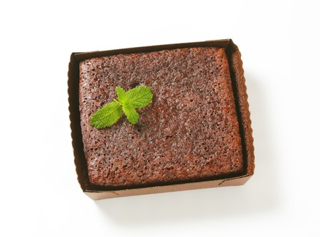 Brownie cake in paper food tray