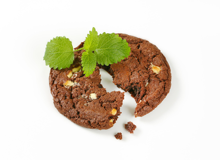 Chocolate nut fudge cookie, also called chocolate rad