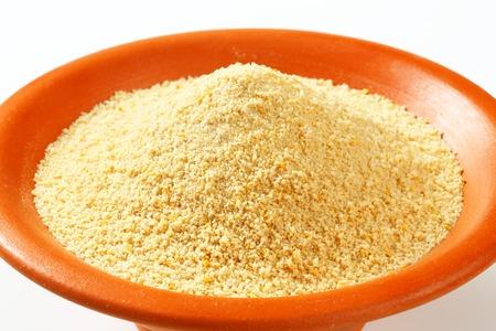Bowl of dry bread crumbs Reklamní fotografie