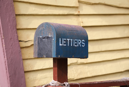 Old rusty letter box in Popeye village, Malta