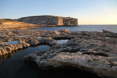 Cliffs and Mediterranean sea in Malta