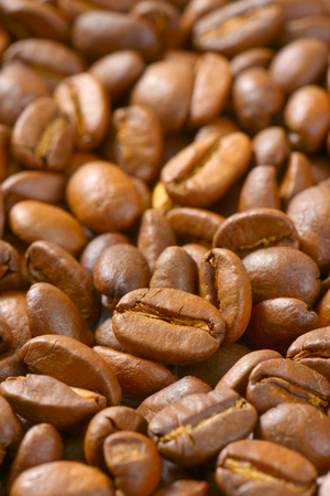 close up of roasted coffee beans - full frame Reklamní fotografie