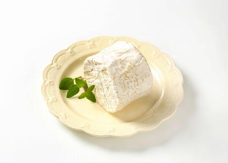 French soft cheese with white Penicillium candidum rind