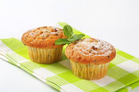 Vanilla muffins with fine chocolate flakes