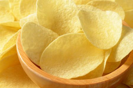 thin salted potato chips (crisps) - full frame