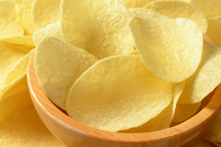 thin salted potato chips (crisps) - full frame
