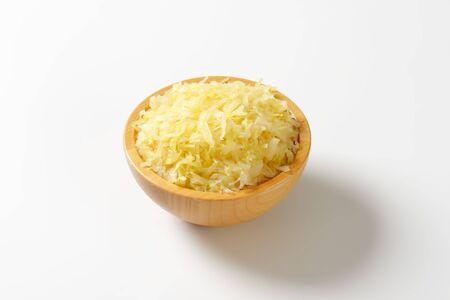 Bowl of sauerkraut (pickled white cabbage)