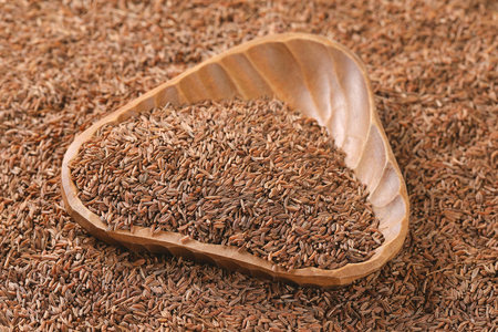 bowl of caraway seeds - full frame
