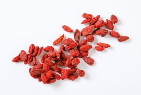 handful of goji berries on white background Reklamní fotografie - 101584702