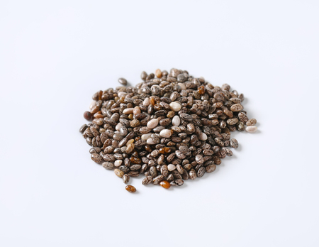 pile of healthy chia seeds on white background Reklamní fotografie - 101584704