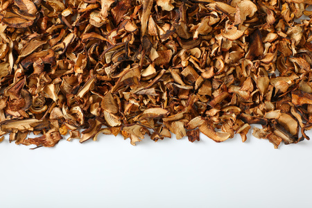 pile of dried mushrooms on white background Reklamní fotografie
