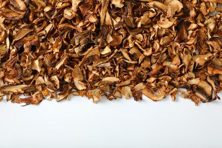 pile of dried mushrooms on white background Reklamní fotografie - 106000203