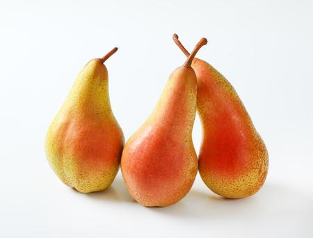 three ripe pears on white background Reklamní fotografie - 106000043