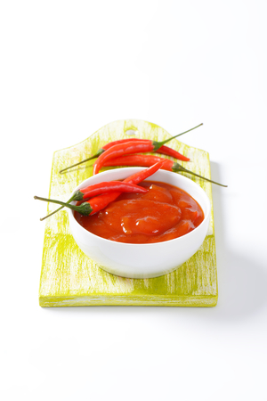 Tomato sauce with hot peppers, garlic and onion Reklamní fotografie