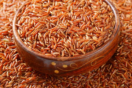 Bowl of Camargue red rice