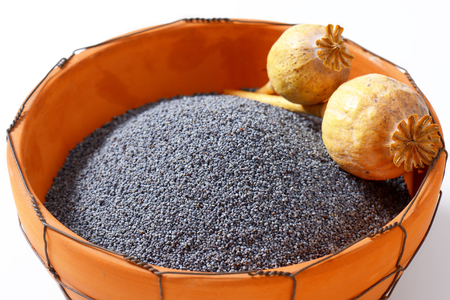Bowl of whole poppy seeds