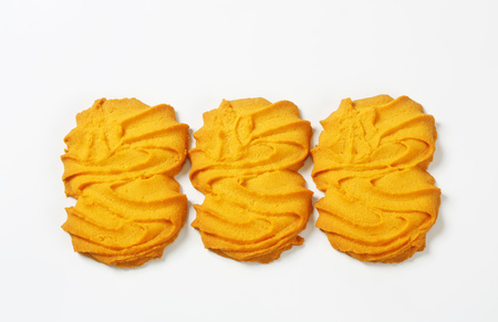 Vanilla Spritz cookies on white background Reklamní fotografie - 115160247