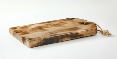 Rustic rectangle wooden cutting board or serving tray