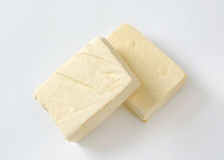 Two blocks of fresh bean curd (tofu) Zdjęcie Seryjne