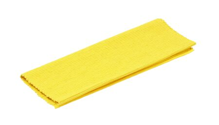 Yellow ribbed cotton placemat isolated on white Standard-Bild