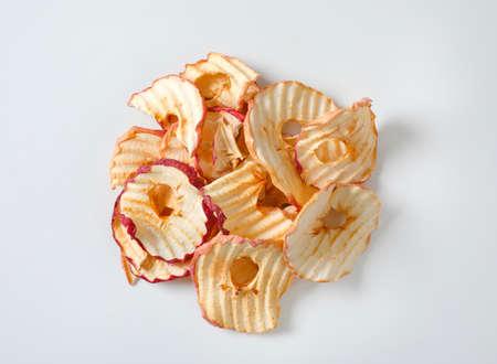 Heap of dried apple slices - apple chips or rings Zdjęcie Seryjne