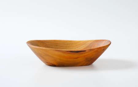 Boat shaped natural wood bowl