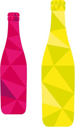 resfriado comun: ilustraci�n vectorial de color botella