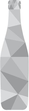 dark lager: Monochrome vector illustration of bottles