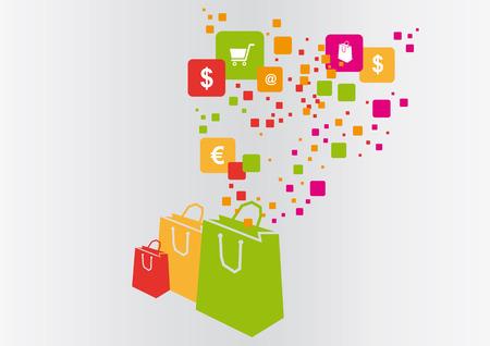 ショッピング バッグのベクトル図