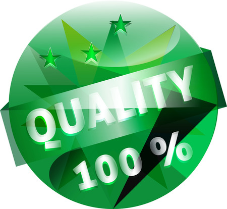 competent: Quality Guarantee Button Vector Illustration Illustration