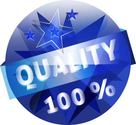 quality guarantee: Quality Guarantee Button Vector Illustration Illustration
