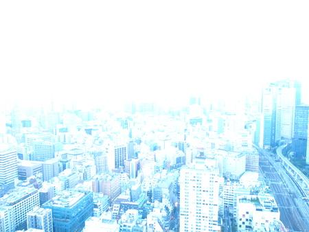 bright skyline of Tokyo 写真素材