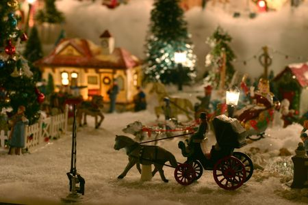 holiday miniature christmas village stock photo 270012 - Miniature Christmas Town Decorations