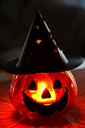 Glowing halloween pumpkin Stock Photo - 270028