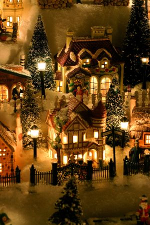 folk village: Miniature Christmas Village