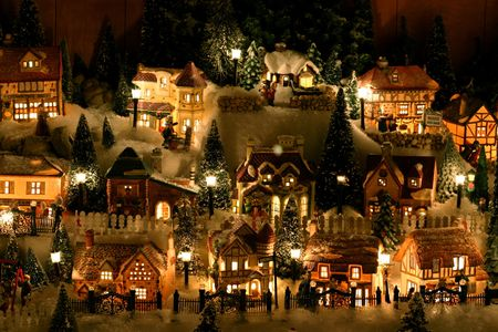 miniature christmas village stock photo 270014 - Miniature Christmas Town Decorations