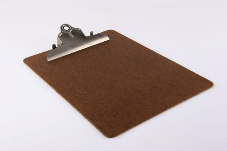 Brown Clipboard on WHite