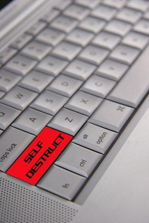 destruct: Keyboard with self destruct button