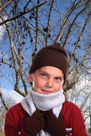 Young child in winter clothing Stock Photo - 303170