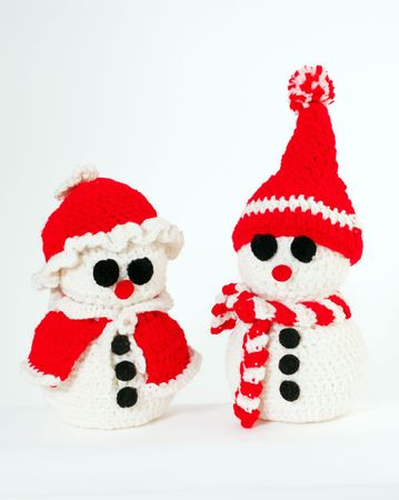 Snowmen Isolated Christmas Figures photo