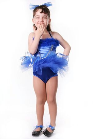 Tiny Blue Girl Dancer in TuTu Stock Photo - 297713