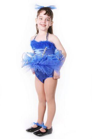 Tiny Blue Girl Dancer in TuTu Stock Photo - 297726