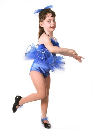 Tiny Blue Girl Dancer in TuTu Stock Photo - 297723
