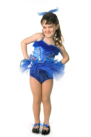 tap dance: Tiny Blue Girl Dancer in TuTu