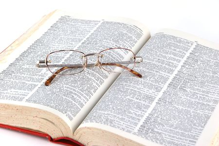 Open Book With Eye Glasses photo