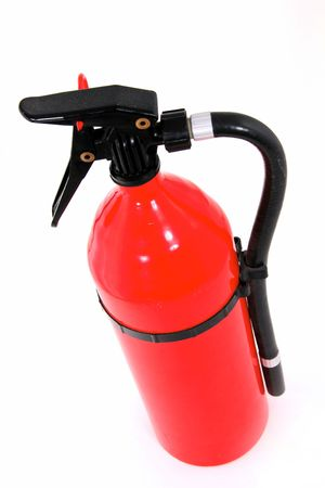 Red Fire Extinguisher Isolated on White photo