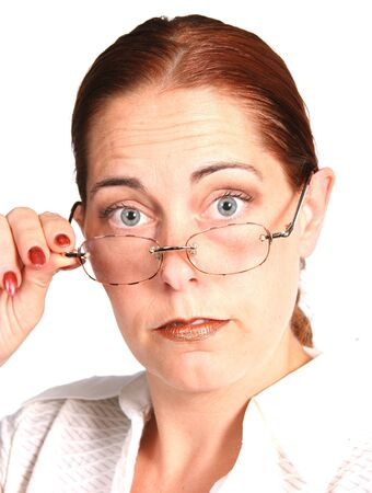 telephone saleswoman: Business Woman With Eye Glasses