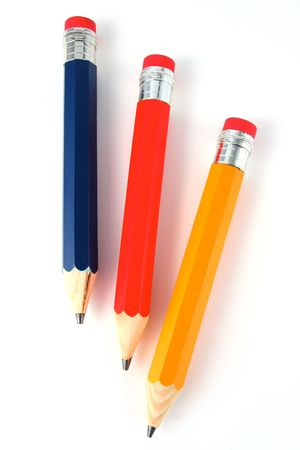 jumbo: Jumbo Yellow Red and Blue Pencils