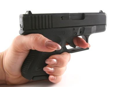 9mm Police Hand Gun photo