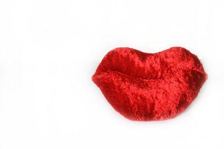 luscious: Luscious Red Valentine Lips Stock Photo